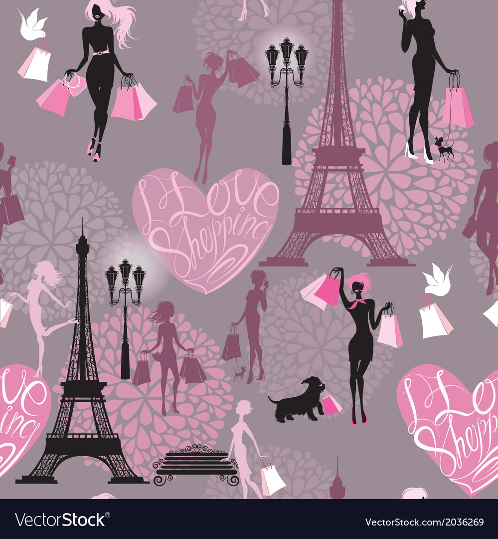 Seamless pattern - effel tower vector | Price: 1 Credit (USD $1)