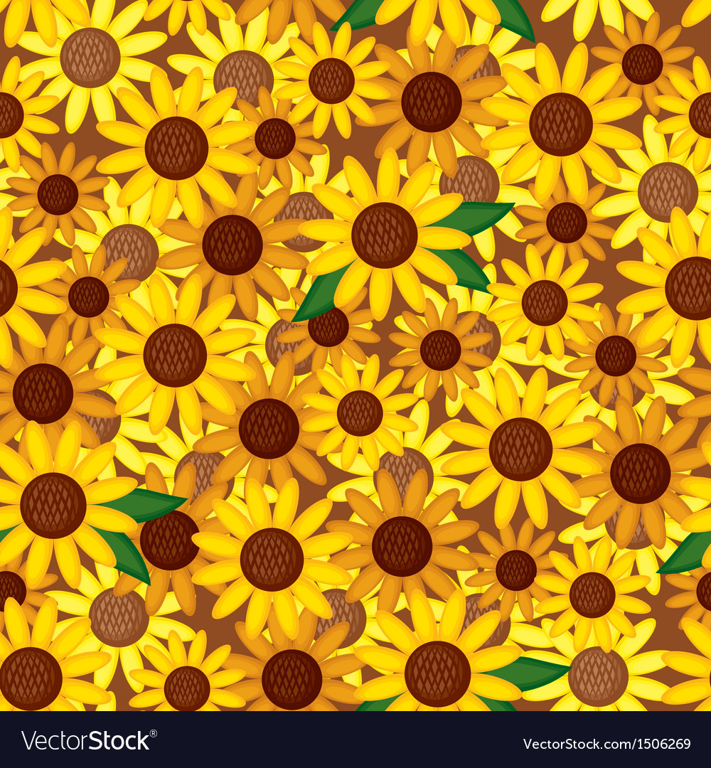 Sunflower seamless vector | Price: 1 Credit (USD $1)