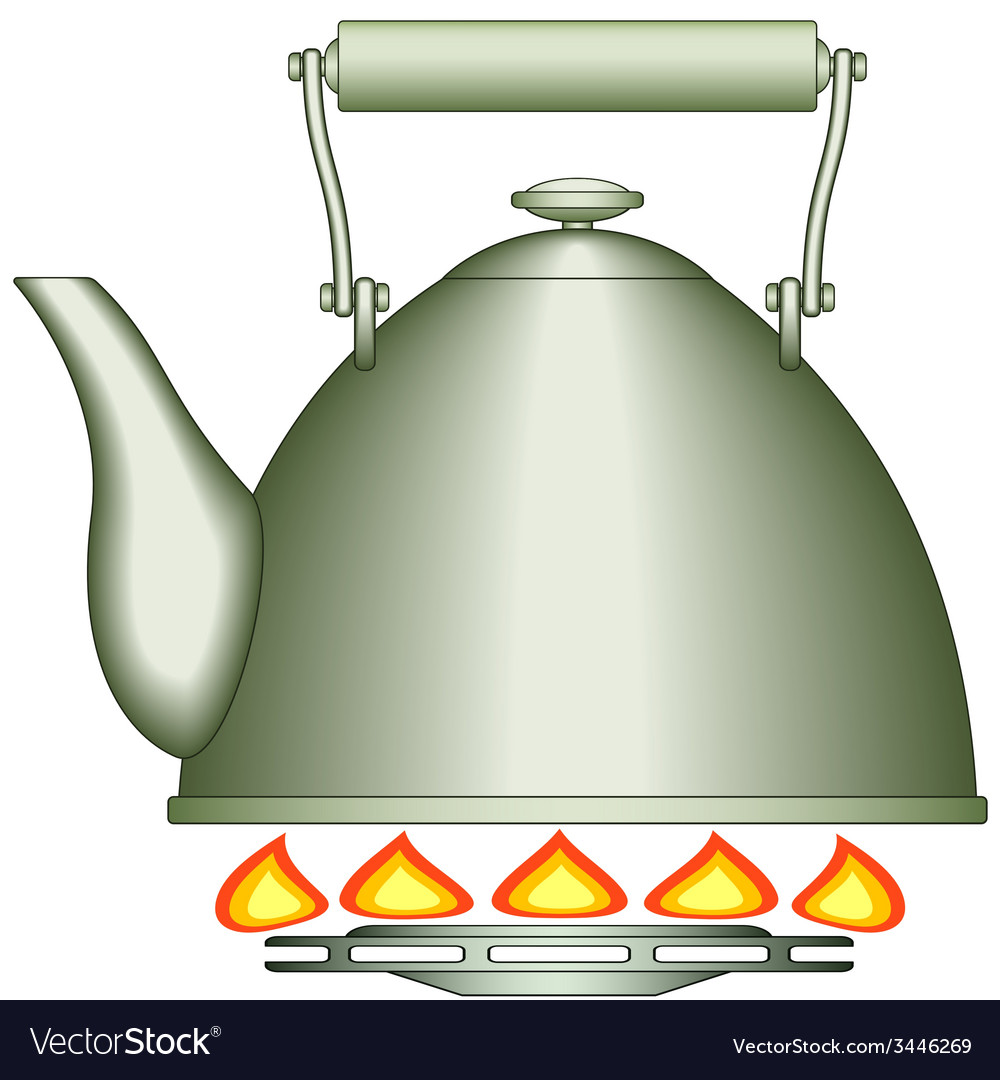 Teapot on burner vector | Price: 1 Credit (USD $1)