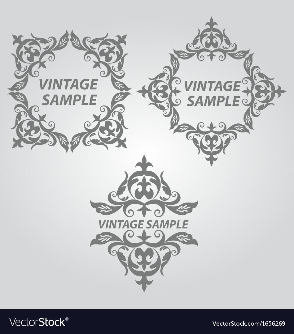 Vintage design elements vector   Price: 1 Credit (USD $1)