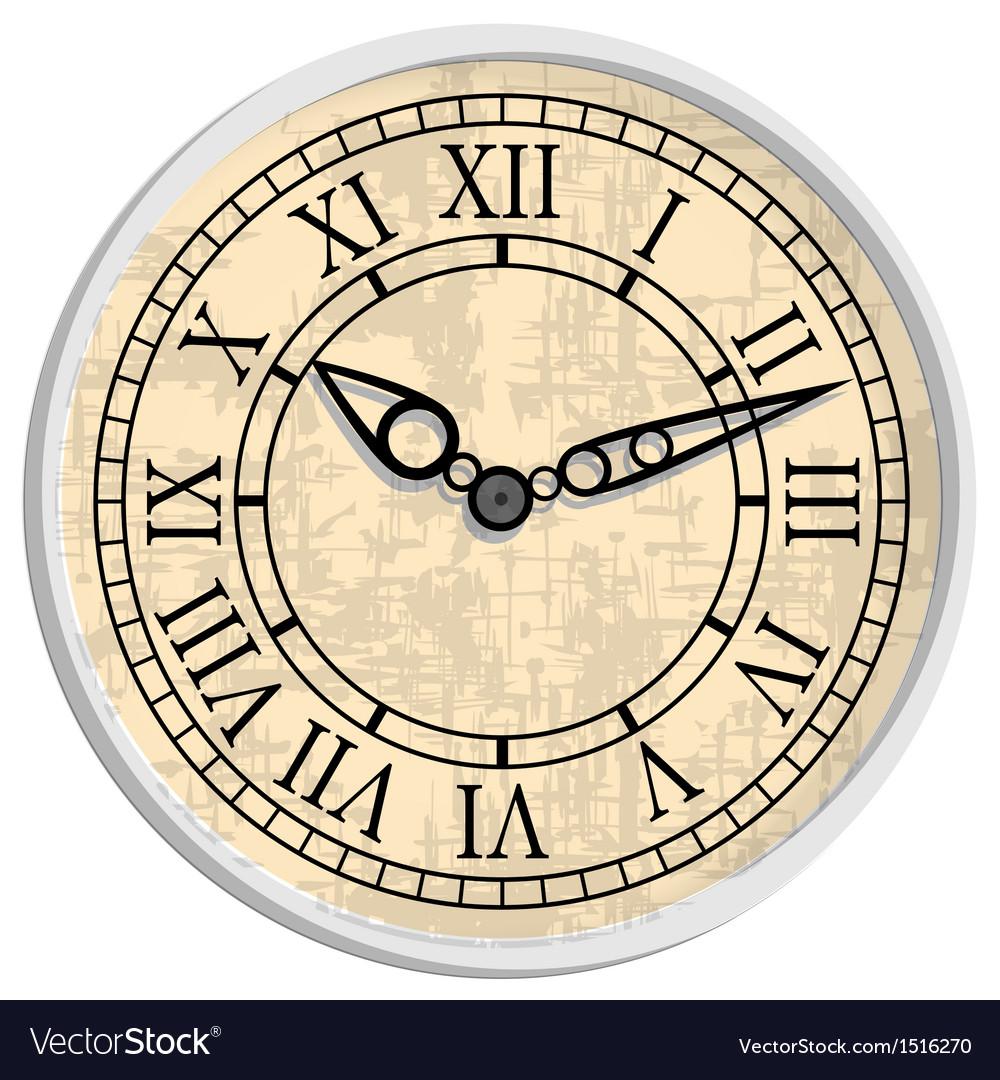 Antique clock vector | Price: 1 Credit (USD $1)
