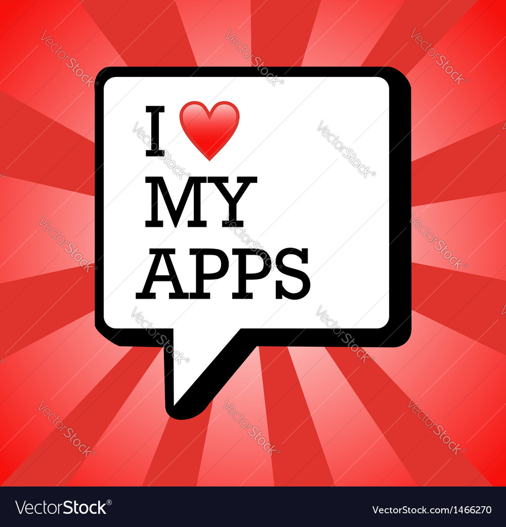I love apps background vector   Price: 1 Credit (USD $1)