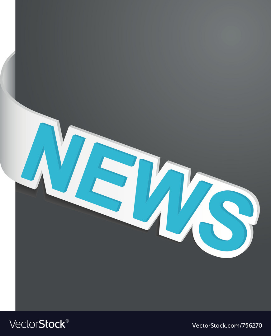 Left side sign news vector | Price: 1 Credit (USD $1)