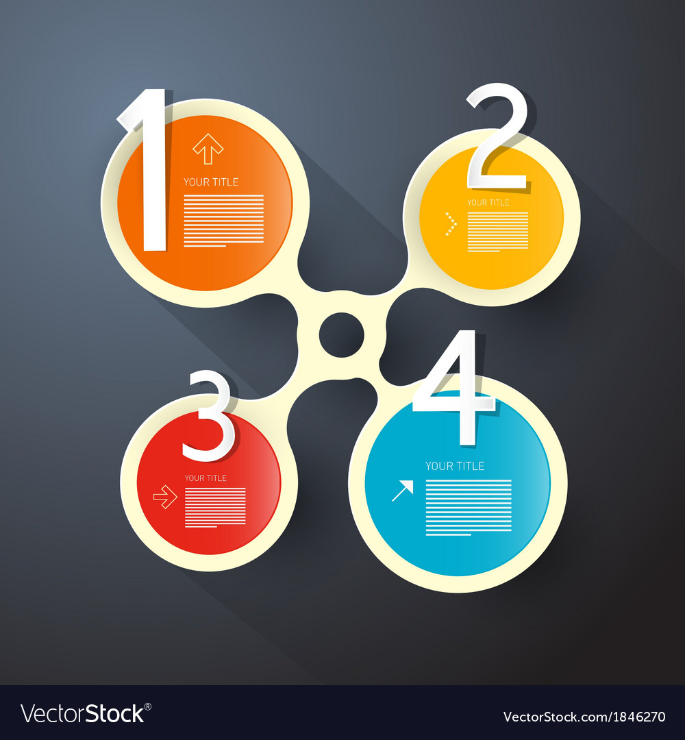 One two three four steps for tutorial infographics vector | Price: 1 Credit (USD $1)