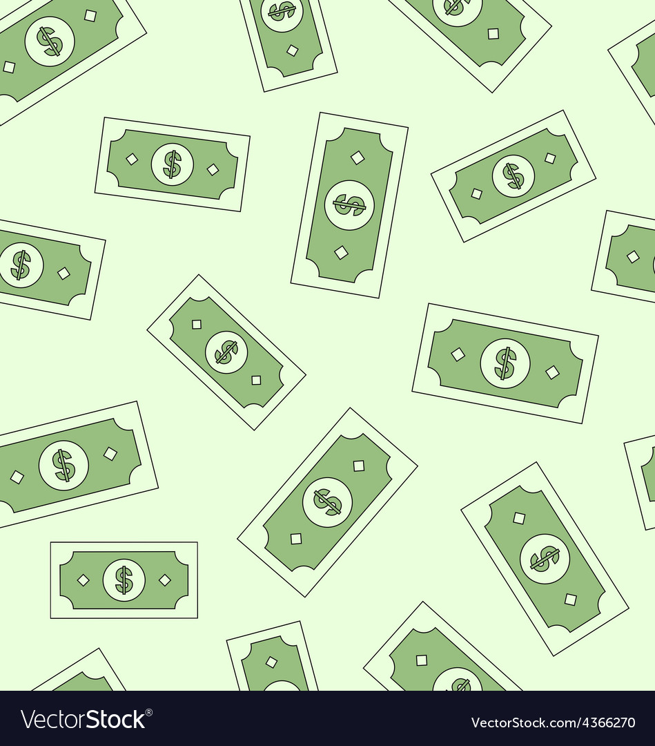 Seamless texture with american money dollars vector
