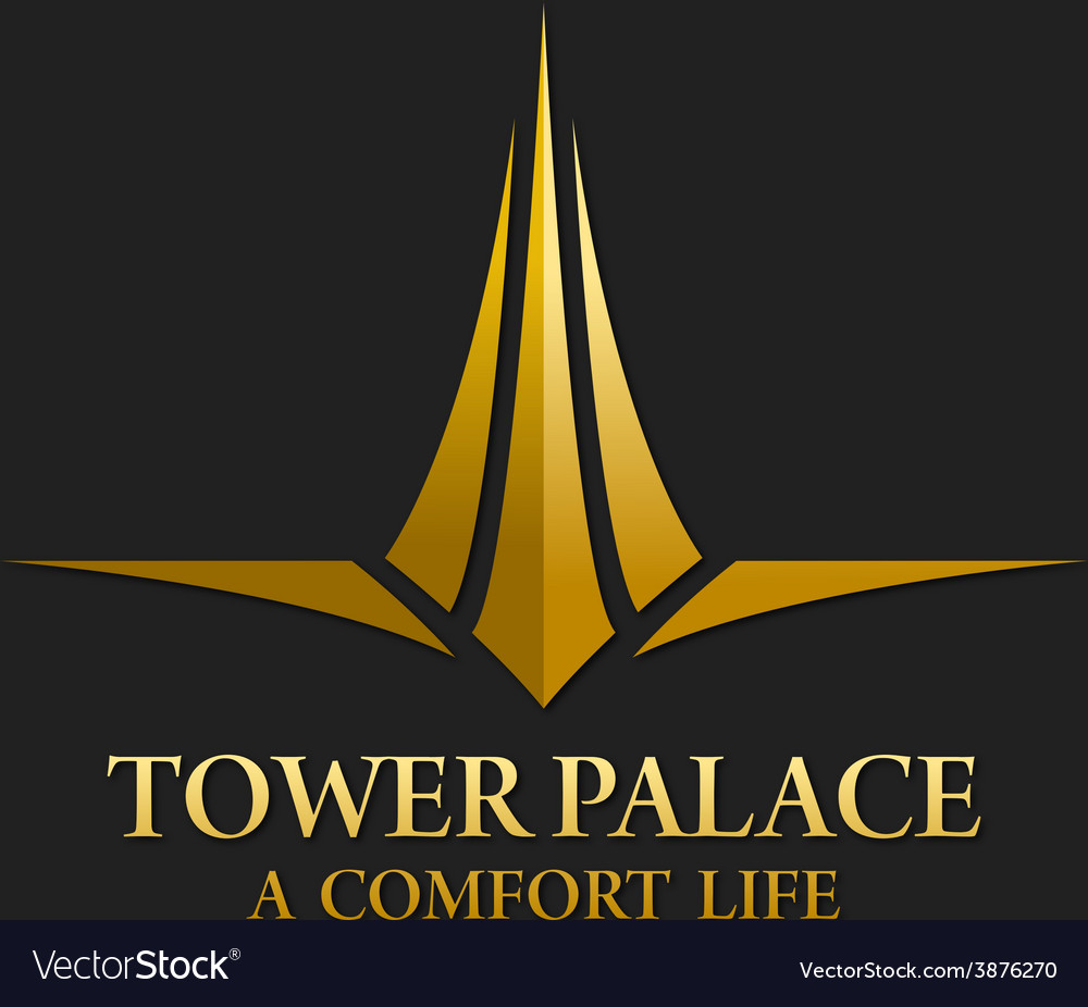Tower palace real estate logo vector | Price: 1 Credit (USD $1)