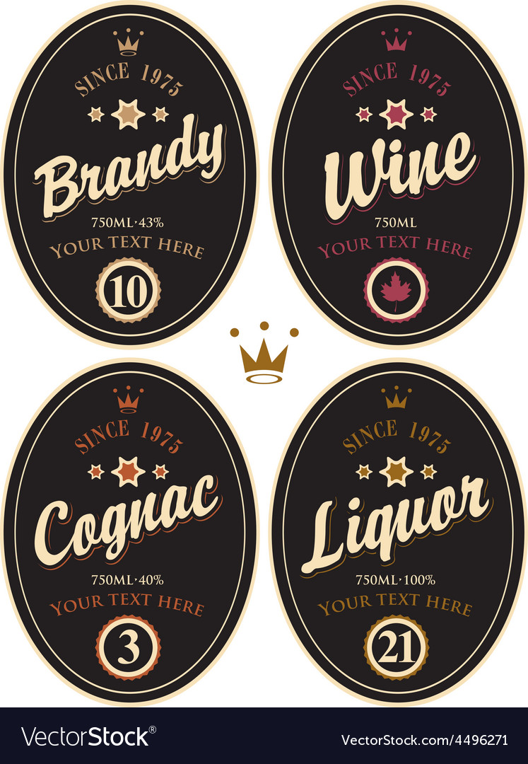 Alcohol label vector | Price: 1 Credit (USD $1)