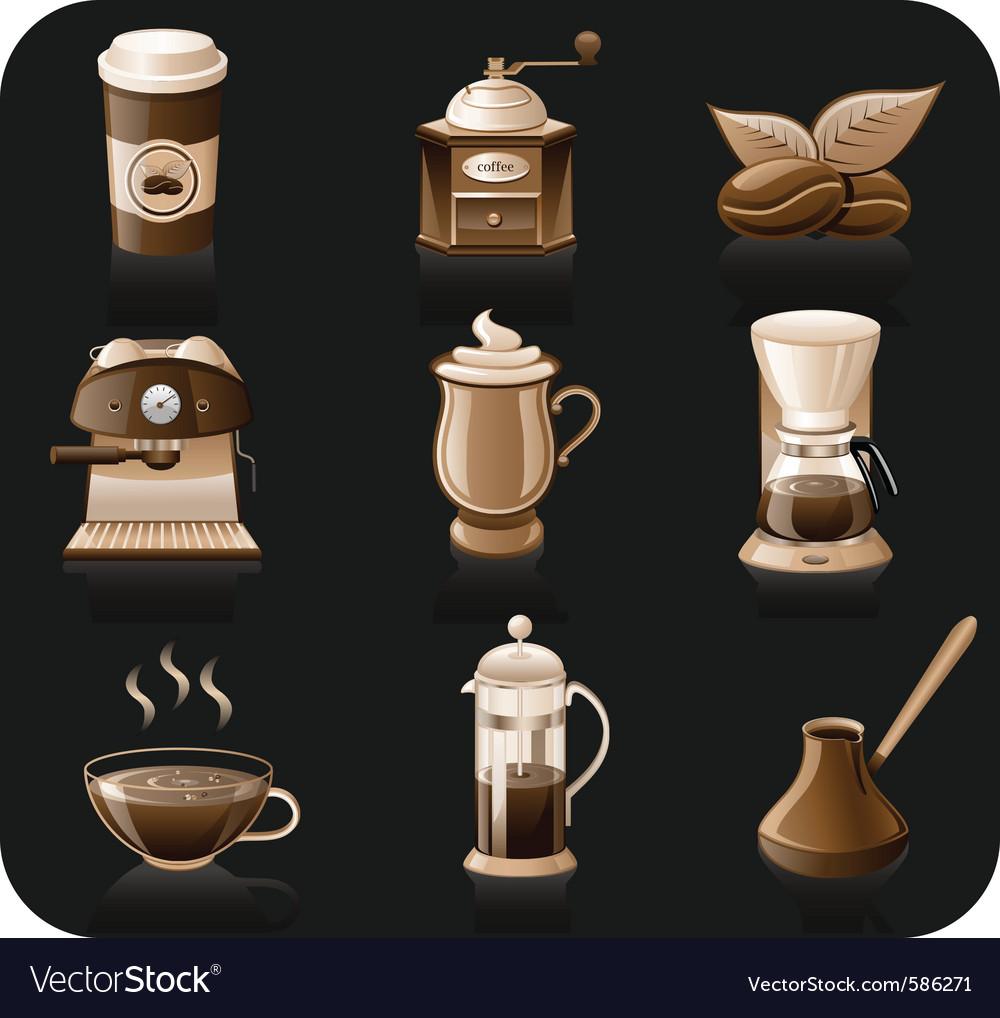 Coffee icon set vector | Price: 3 Credit (USD $3)
