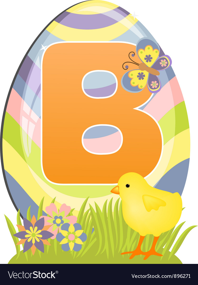 Cute initial letter b vector | Price: 1 Credit (USD $1)