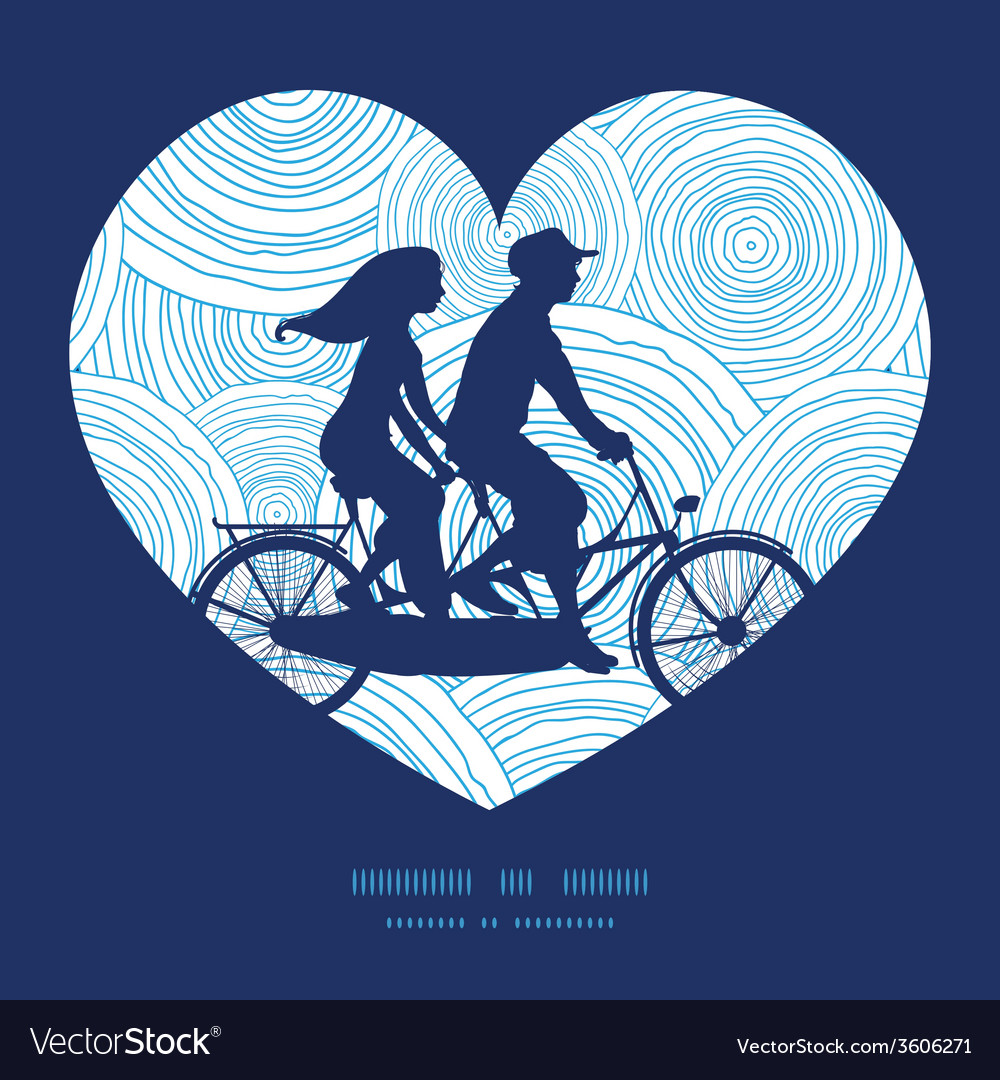 Doodle circle water texture couple on tandem vector | Price: 1 Credit (USD $1)