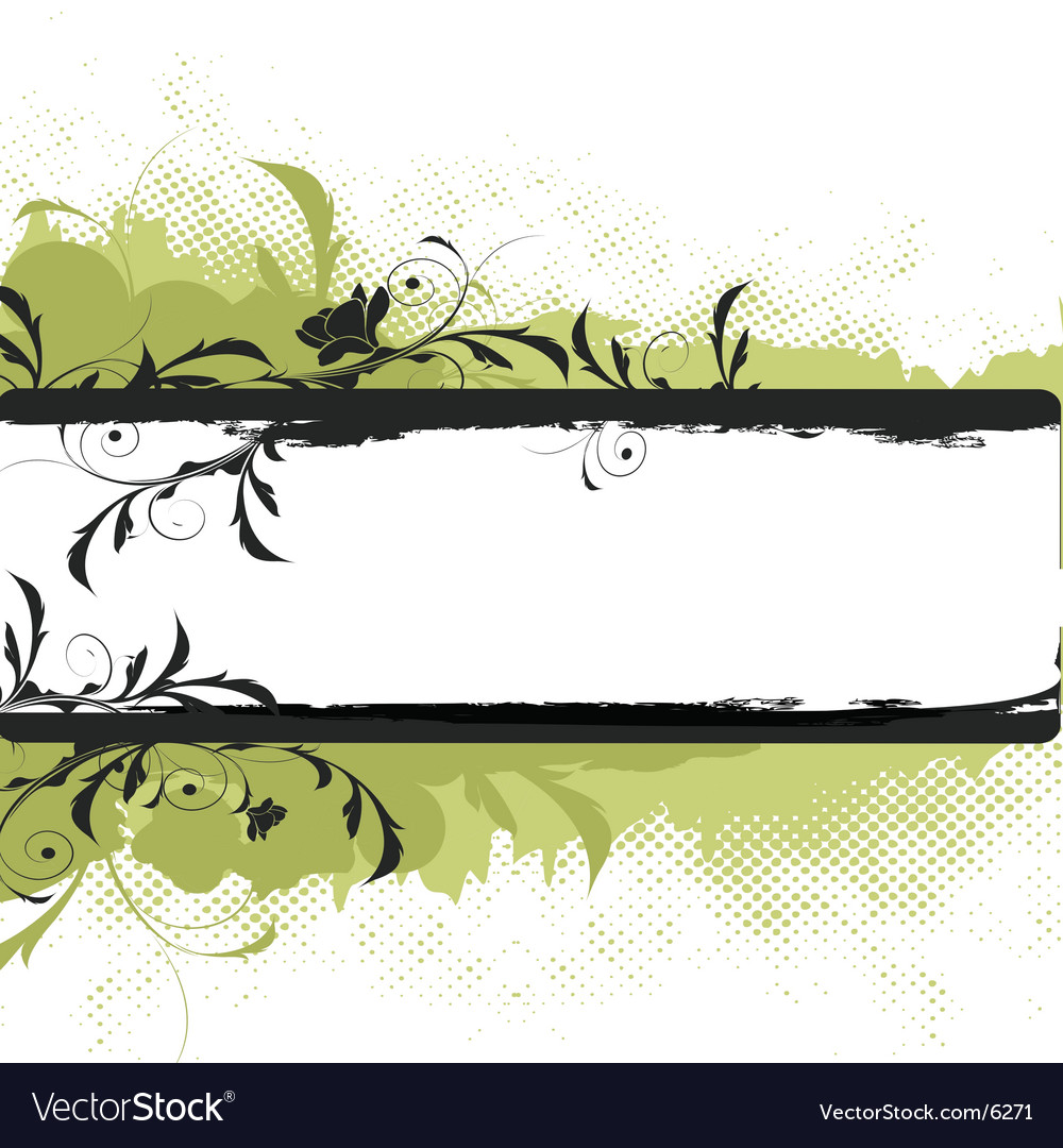 Floral banner graphic vector | Price: 1 Credit (USD $1)