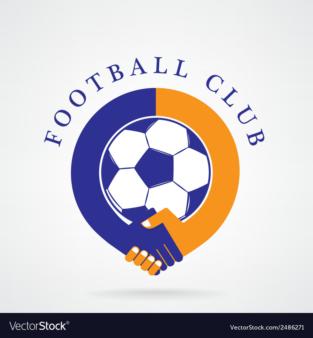 Football sign and handshake abstract design vector | Price: 1 Credit (USD $1)