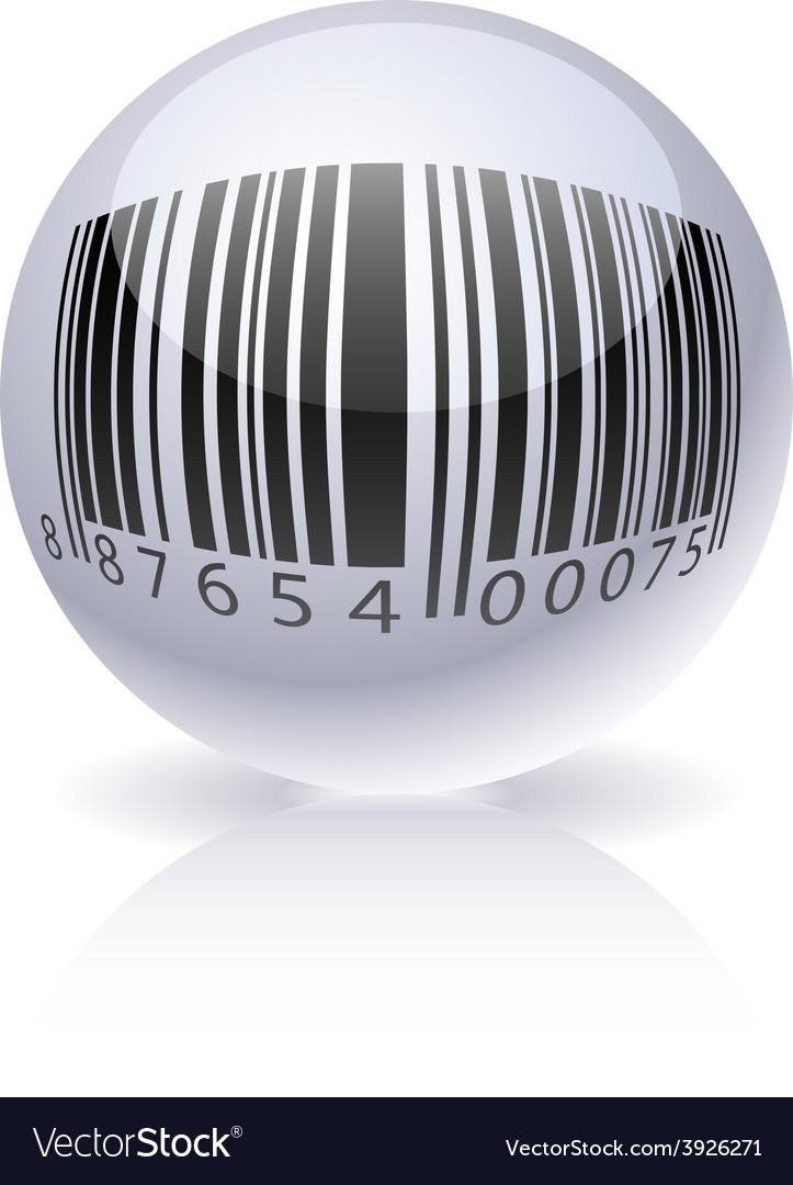 Glossy barcode ball vector | Price: 1 Credit (USD $1)