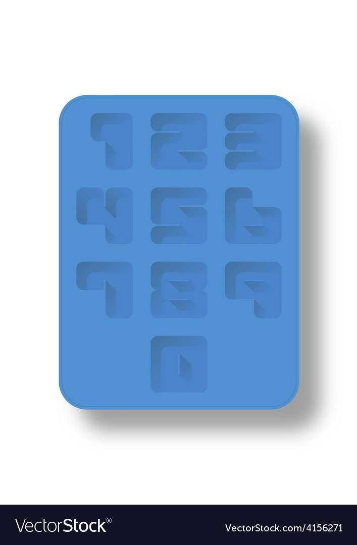 Ice tray number vector | Price: 1 Credit (USD $1)