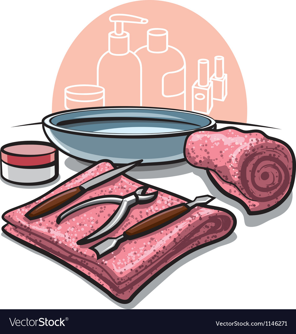 Manicure tools vector | Price: 3 Credit (USD $3)