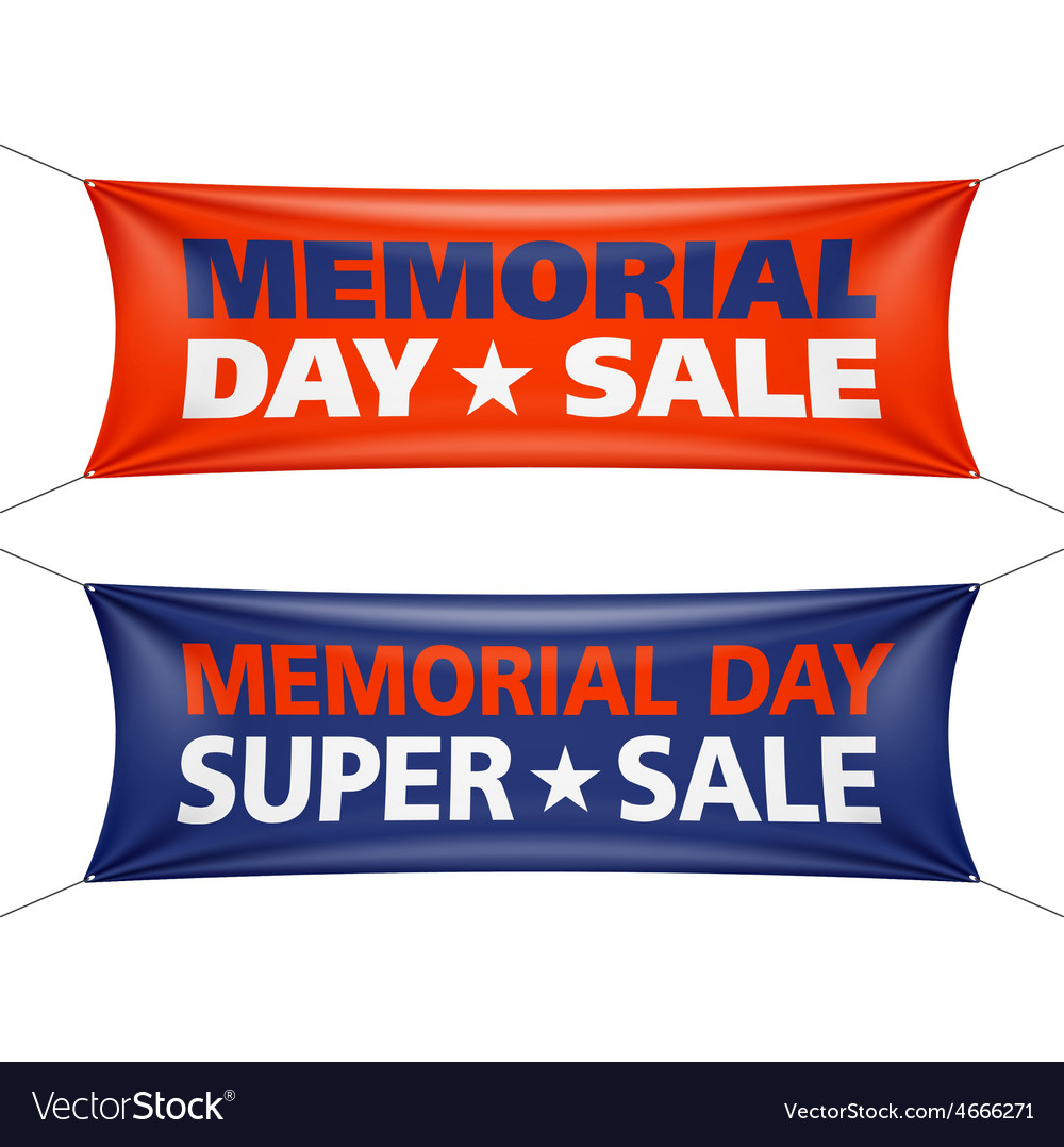 Memorial day sale banners vector | Price: 1 Credit (USD $1)