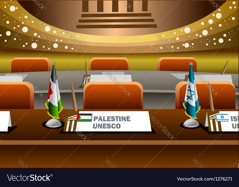 Palestine candidate for the seat on unesco vector | Price: 1 Credit (USD $1)