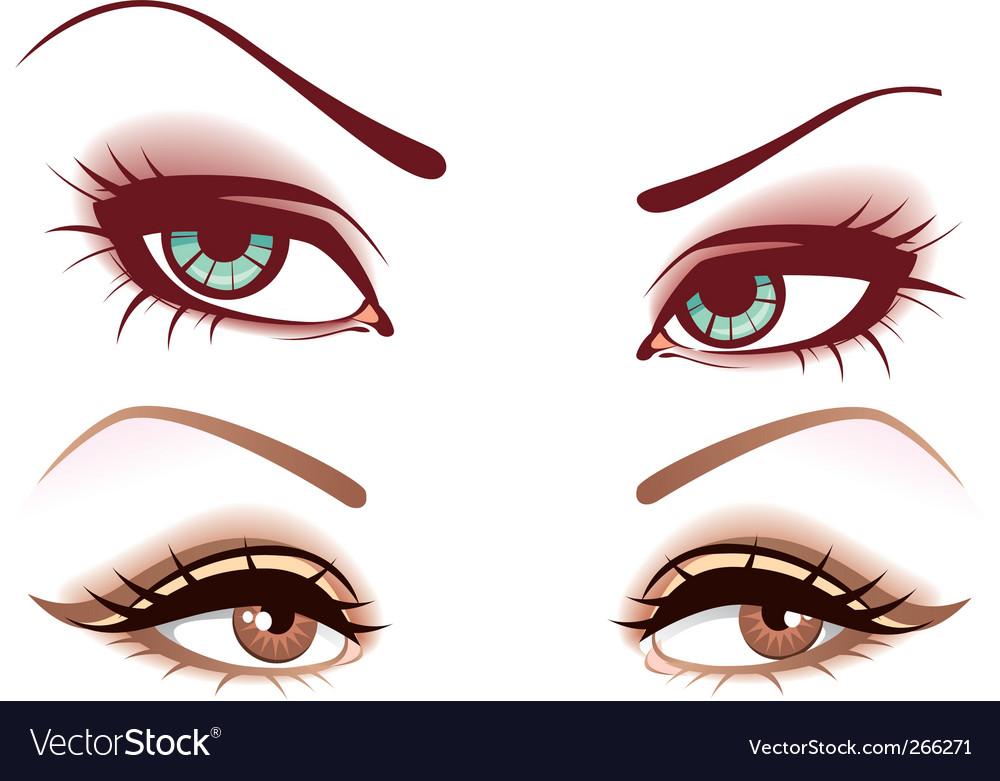 Women's eyes vector | Price: 3 Credit (USD $3)