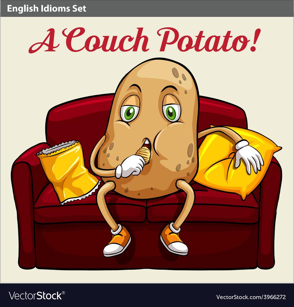 A couch potato vector | Price: 1 Credit (USD $1)