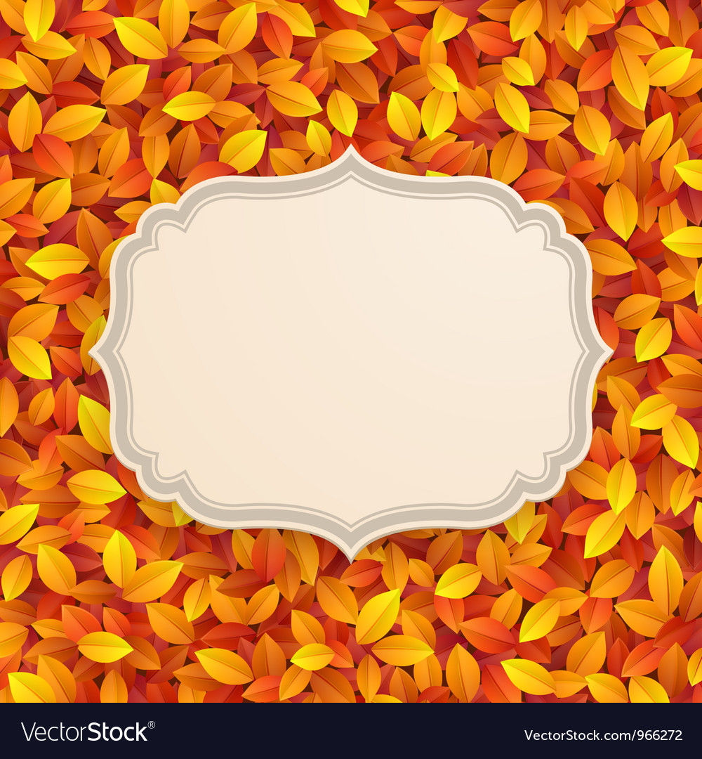 Autumn card vector | Price: 1 Credit (USD $1)