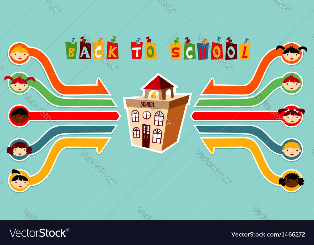 Back to school children network vector | Price: 1 Credit (USD $1)