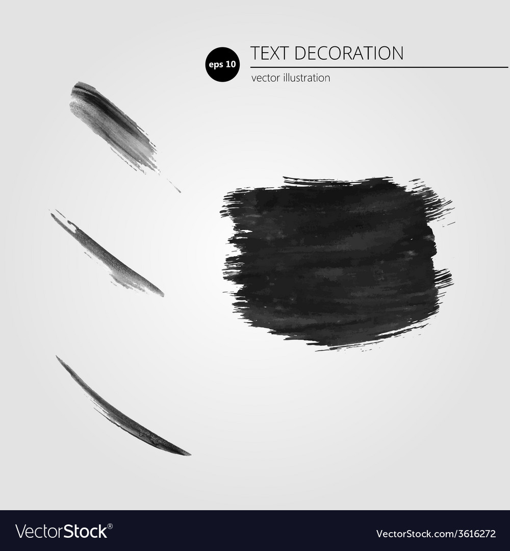 Black grungy abstract hand-painted brush strokes vector | Price: 1 Credit (USD $1)