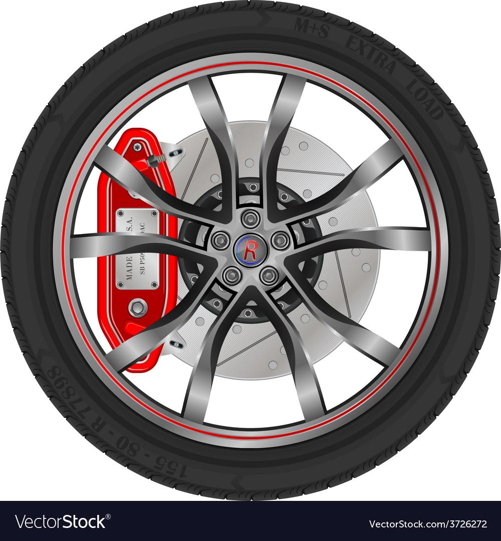 Car wheel vector | Price: 1 Credit (USD $1)