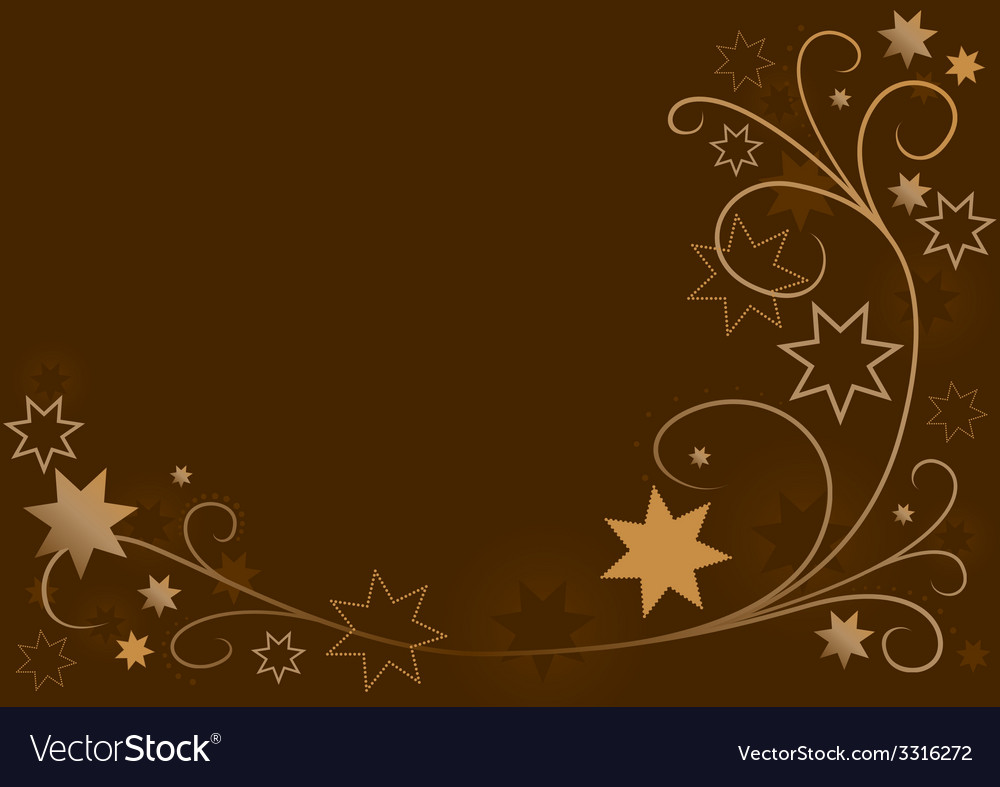 Christmas floral with stars vector