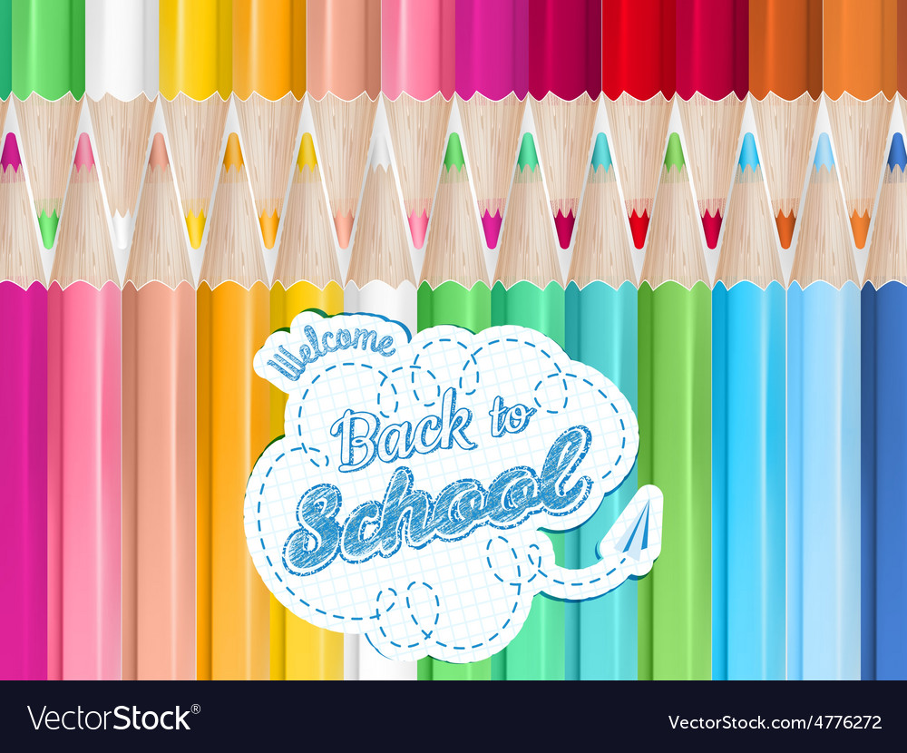 Colored pencils background eps 10 vector | Price: 1 Credit (USD $1)