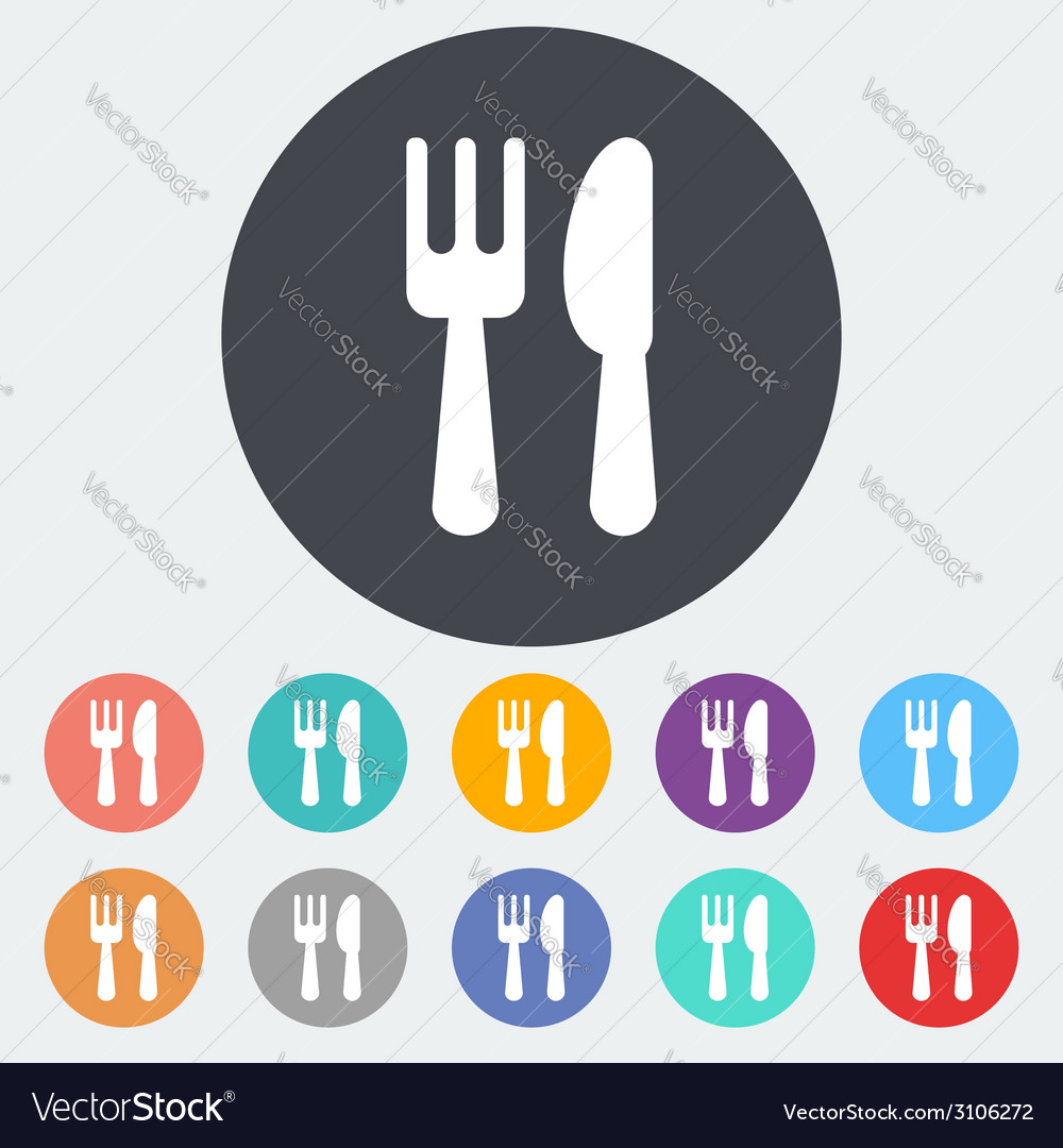 Cutlery single icon vector | Price: 1 Credit (USD $1)