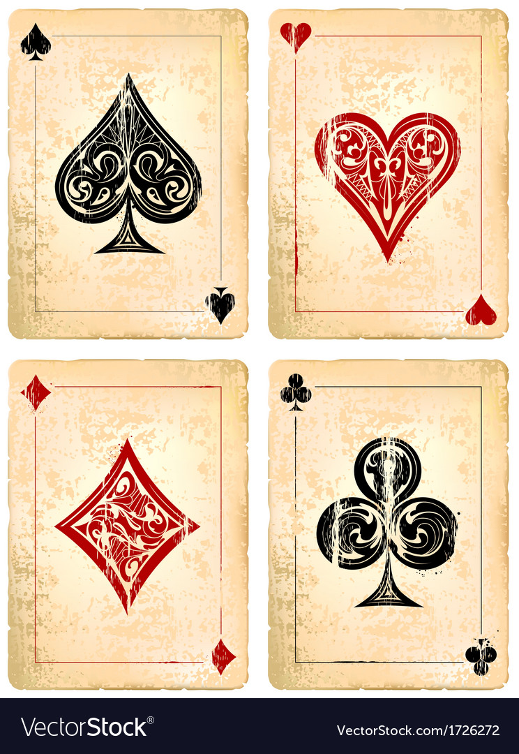 Decrepit playing cards set vector | Price: 1 Credit (USD $1)
