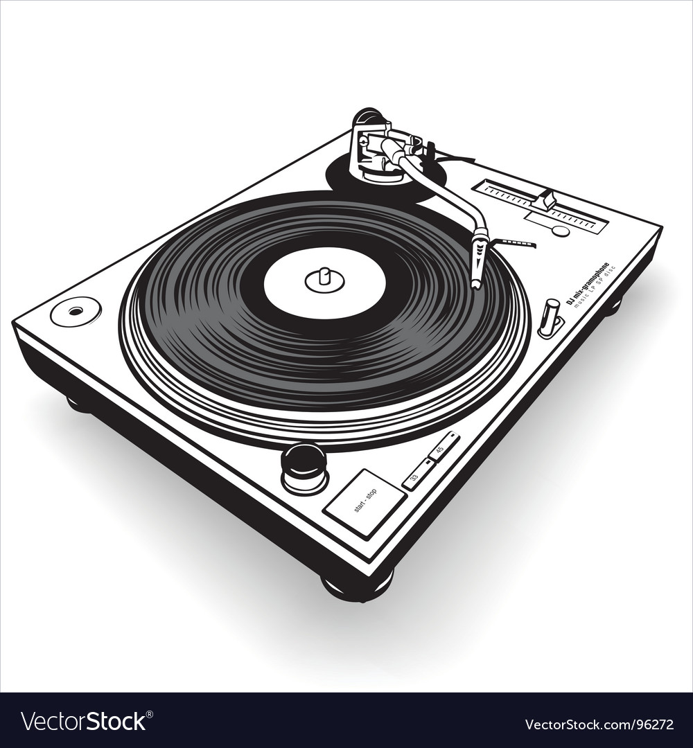 Dj gramophone vector | Price: 1 Credit (USD $1)