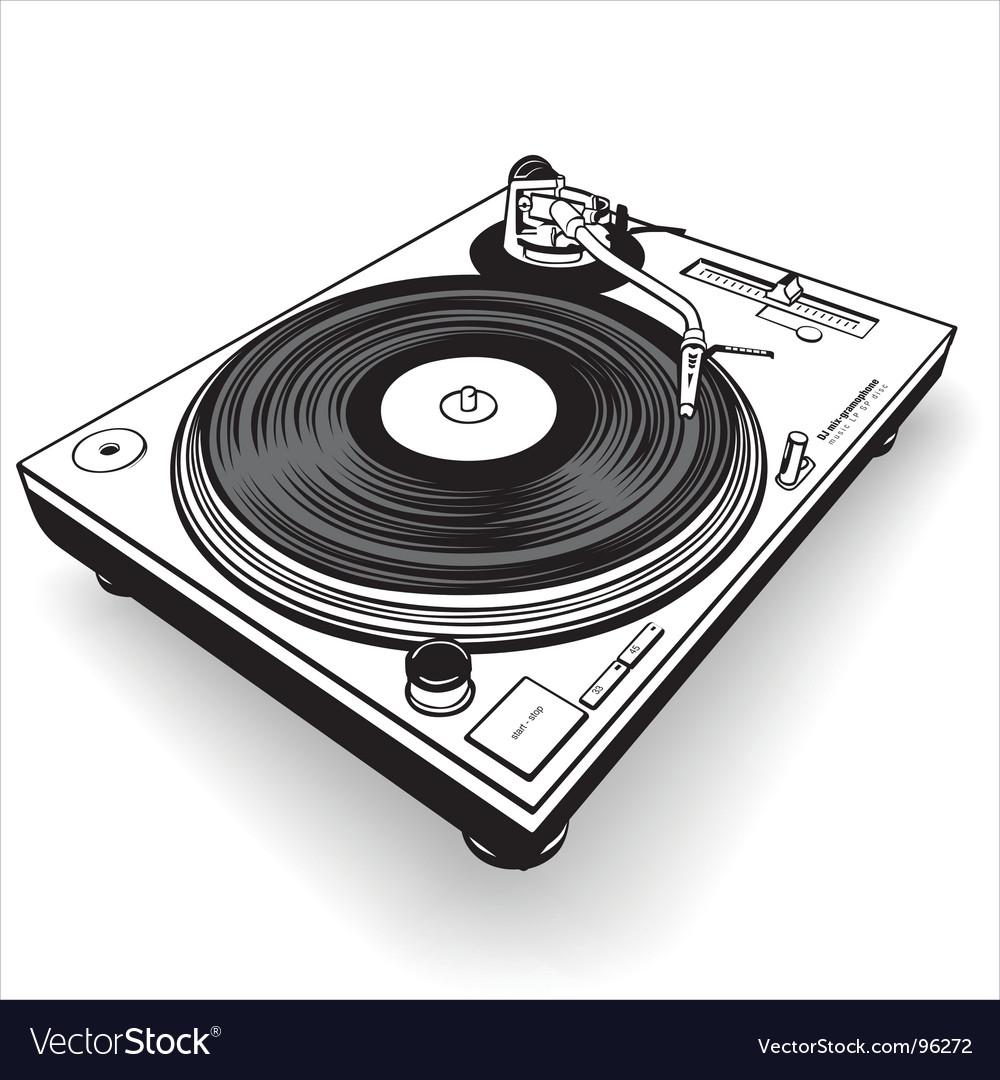 Dj gramophone vector | Price: 1 Credit (USD $1)