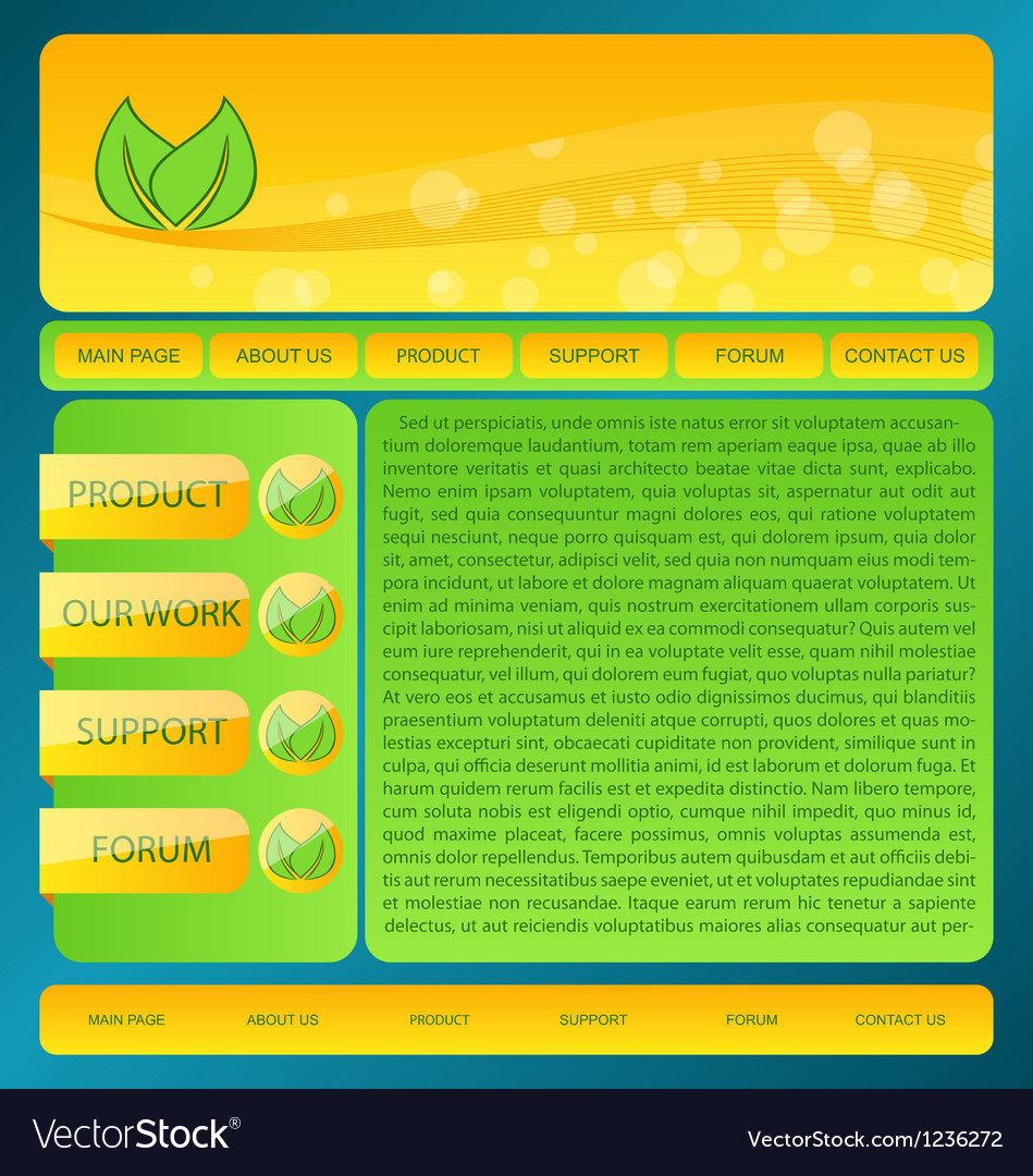 Eco friendly nature webdesign layout vector | Price: 1 Credit (USD $1)