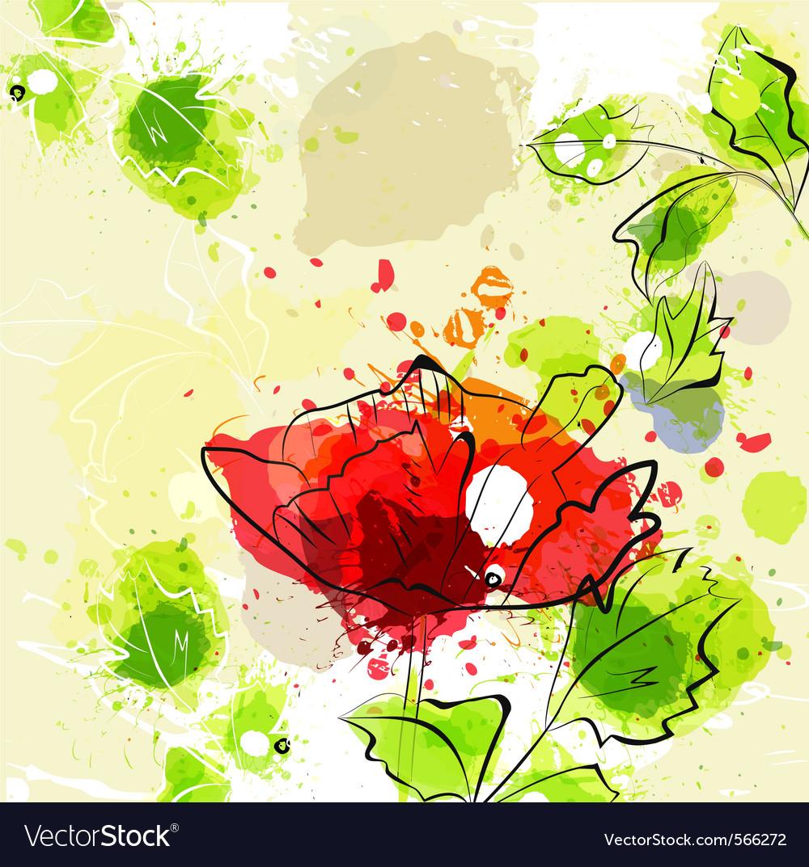 Grunge flower vector | Price: 1 Credit (USD $1)