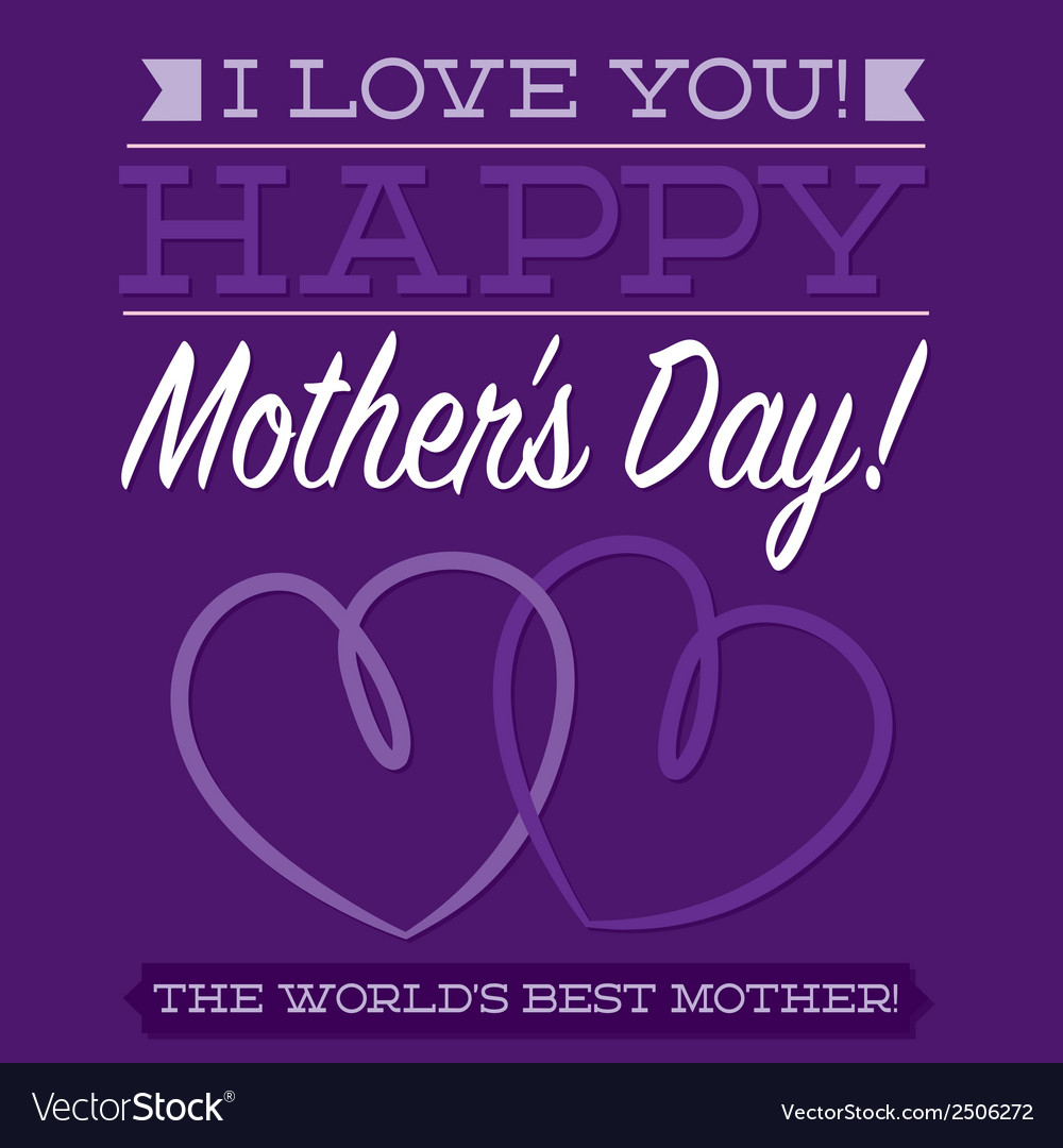 Happy mothers day typographic card in format vector | Price: 1 Credit (USD $1)