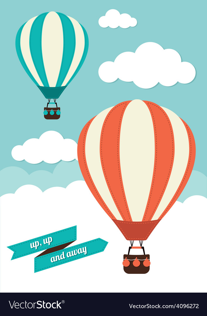 Hot air balloon graphic vector | Price: 1 Credit (USD $1)