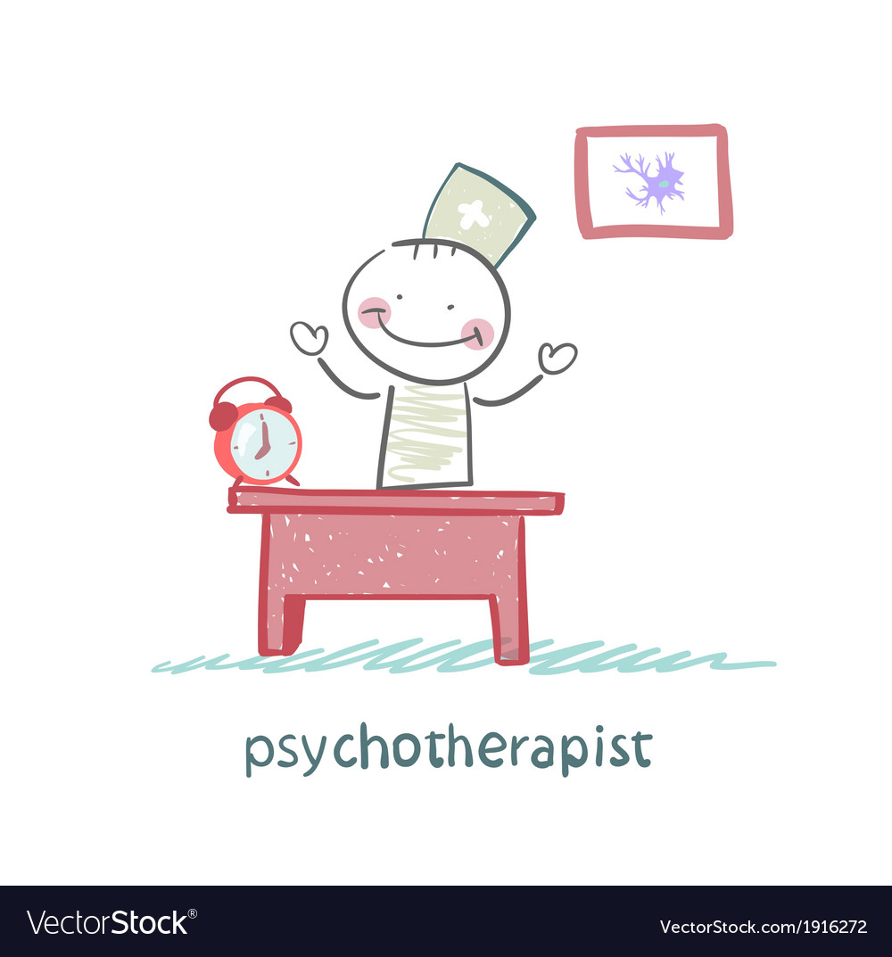 Psychotherapist working in his office vector | Price: 1 Credit (USD $1)
