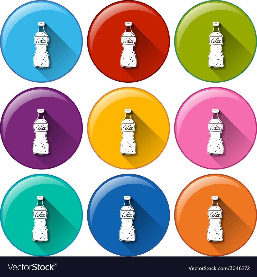 Round icons with softdrinks vector   Price: 1 Credit (USD $1)