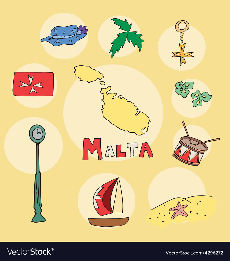 Set of national profile of the malta vector | Price: 1 Credit (USD $1)