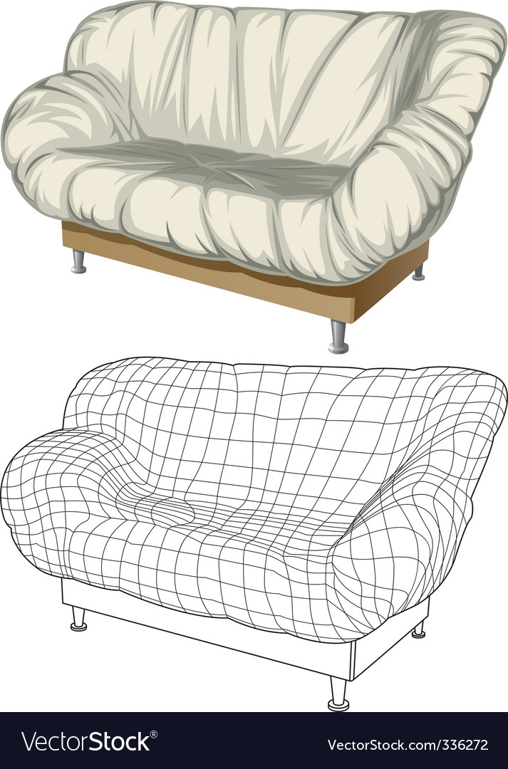 Sofa 3d construction vector | Price: 1 Credit (USD $1)