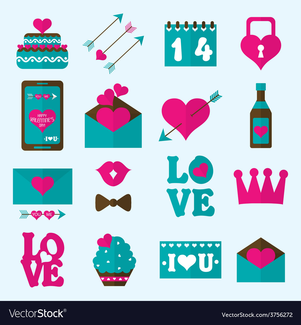 Valentine flat icon vector | Price: 1 Credit (USD $1)