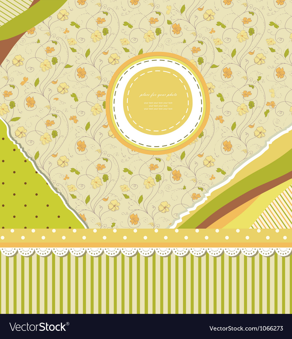 Baby vintage background vector | Price: 1 Credit (USD $1)