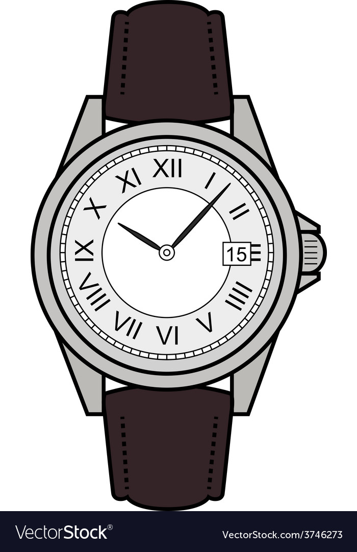 Business style hand watches color vector | Price: 1 Credit (USD $1)