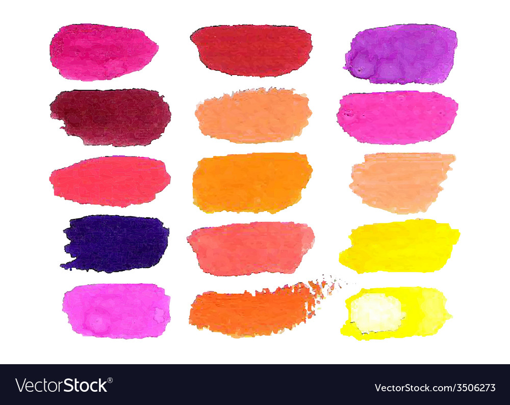 Colorful watercolor brush isolated on white vector | Price: 1 Credit (USD $1)