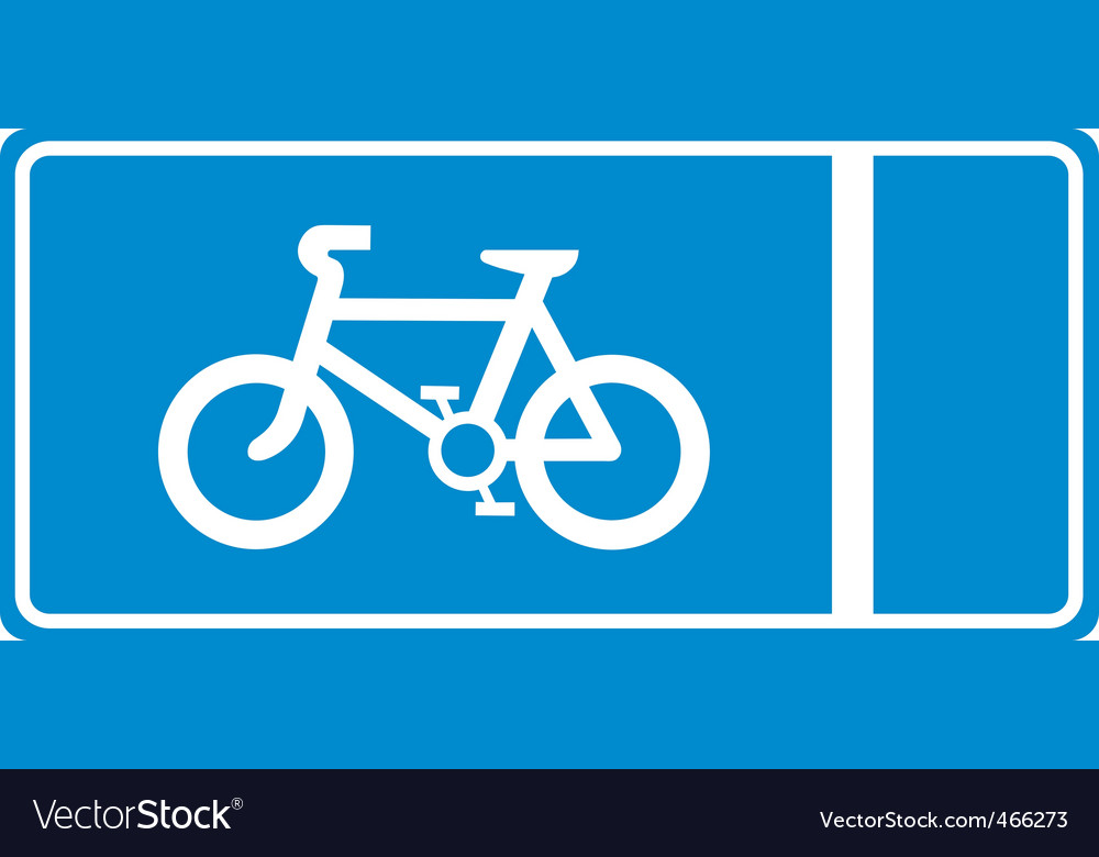 Cycle lane vector | Price: 1 Credit (USD $1)