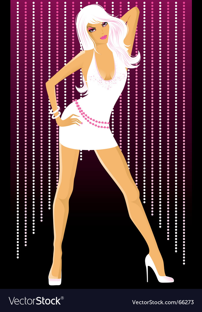 Dancing girl white vector | Price: 3 Credit (USD $3)