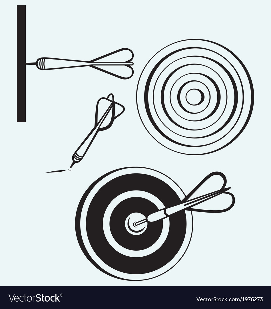 Dart on target vector | Price: 1 Credit (USD $1)