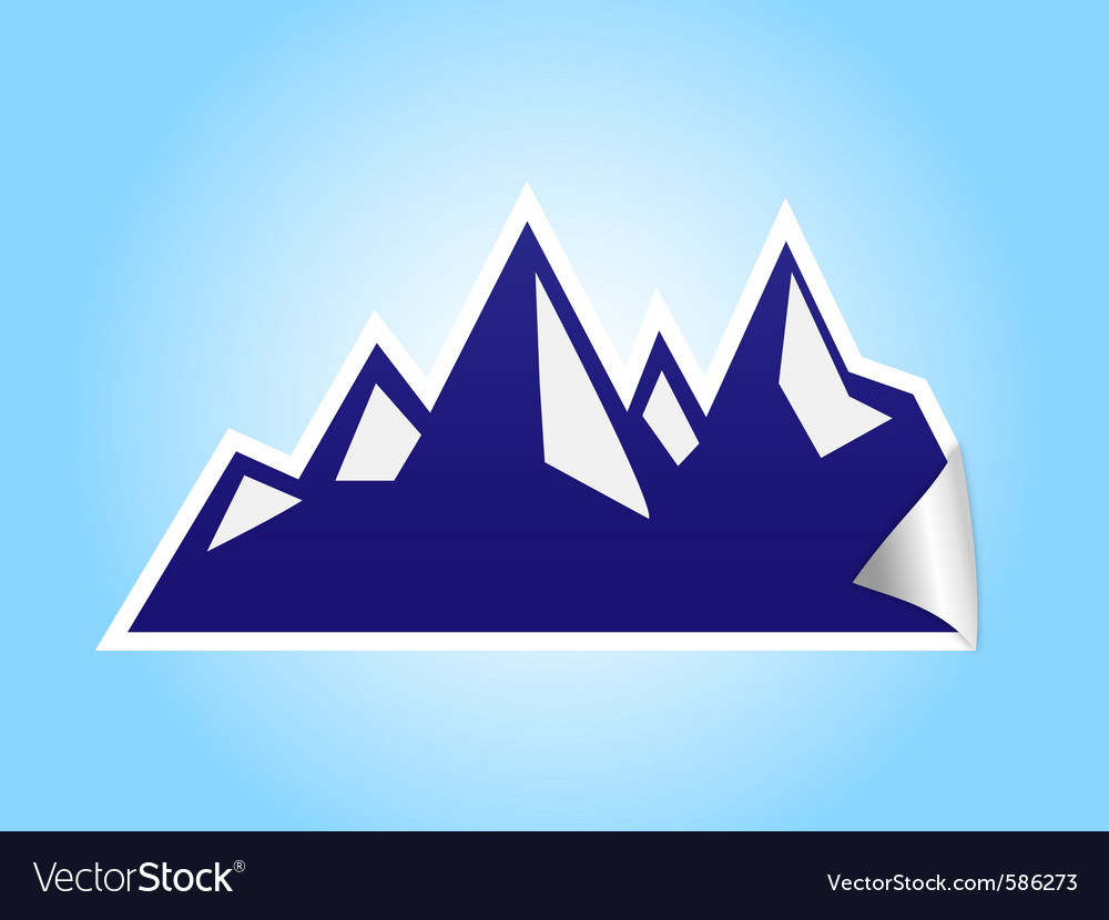 Icy mountain sticker vector | Price: 1 Credit (USD $1)