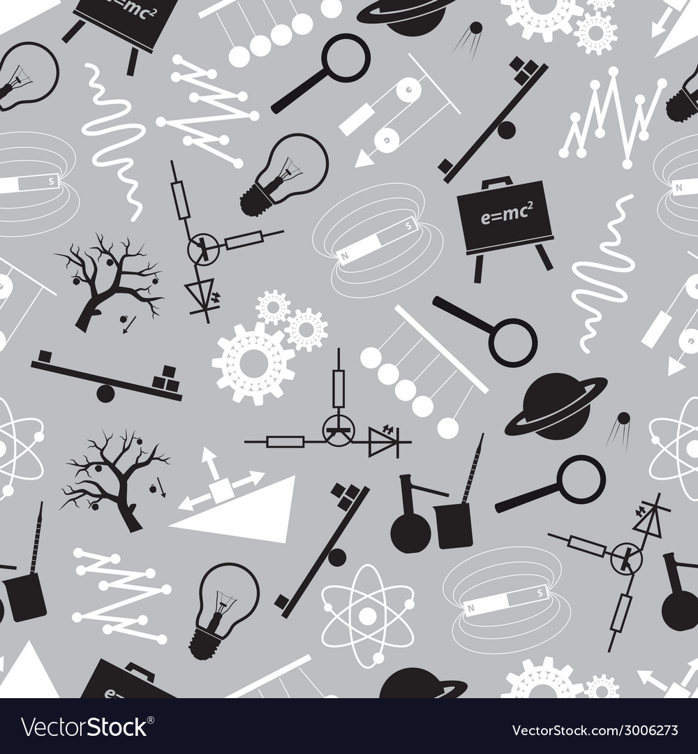 Physics black and white seamless pattern eps10 vector | Price: 1 Credit (USD $1)